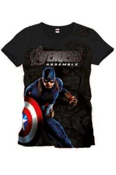 Avengers Age of Ultron T-Shirt Captain America XL