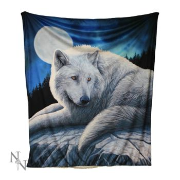 Kuscheldecke mit Wolf - Guardian of the North