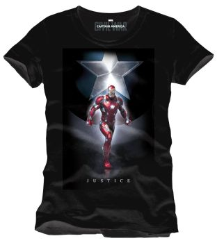 Captain America Civil War T-Shirt Justice XL