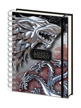 Game of Thrones Wiro Notizbuch A5 Stark & Targaryen
