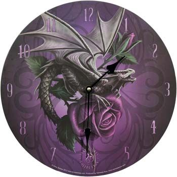 Wanduhr - Dragon Beauty by Anne Stokes