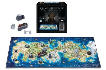 Game of Thrones 3D Puzzle Mini Westeros (340 Teile)