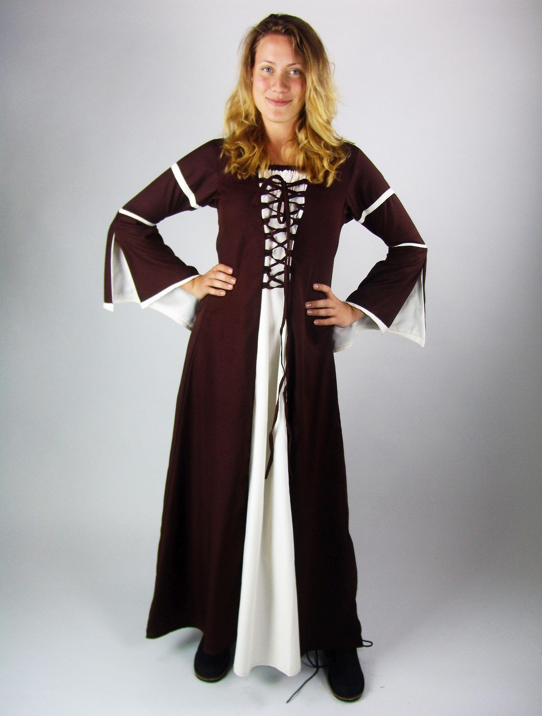 4836 Viskosekleid mit Trompetenärmel - Dodos-Schwester