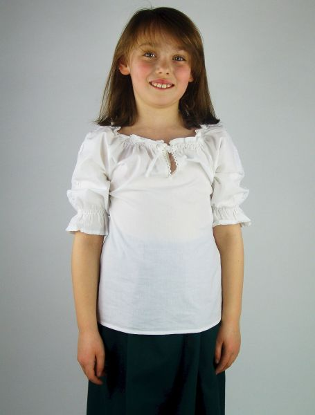 12027 Bluse Kinder weiss