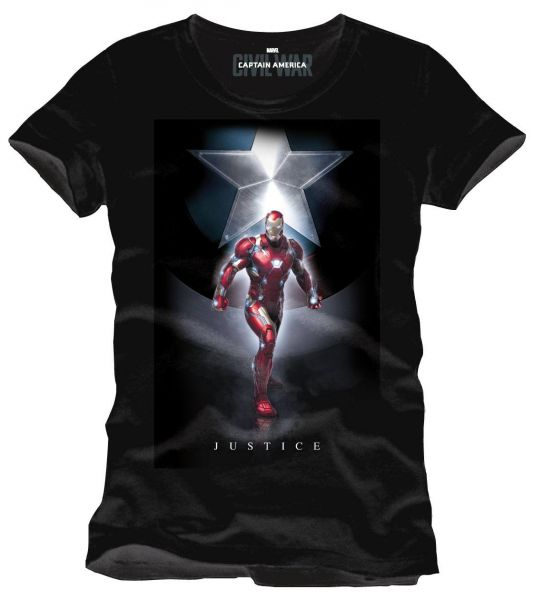 Captain America Civil War T-Shirt Justice L