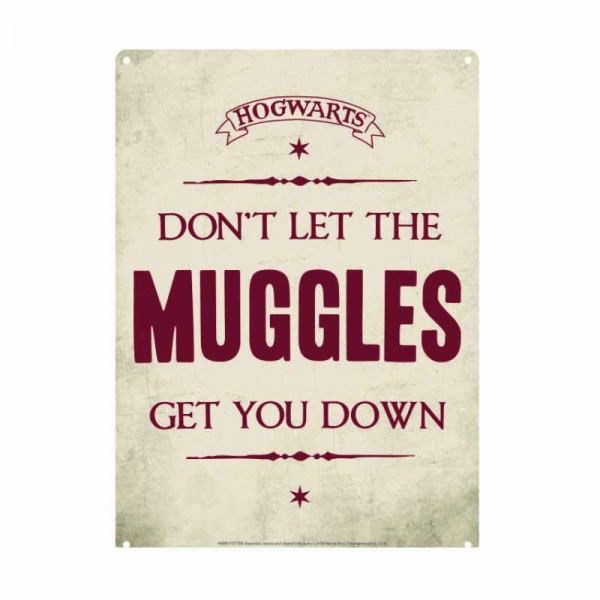 Harry Potter Blechschild Muggles 21 x 15 cm
