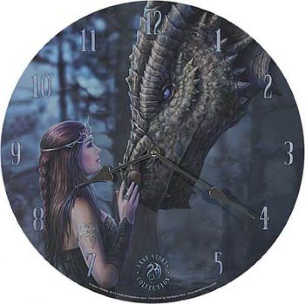 Wanduhr - Once upon a Time by Anne Stokes