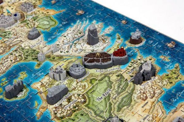 Game of Thrones 3D Puzzle Mini Westeros (340 Teile) b